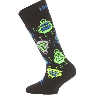 Lasting dětské merino lyžařské ponožky SJE 956 černé