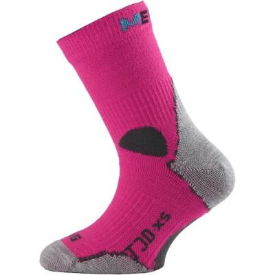 Lasting dětské merino ponožky TJD 408 růžová