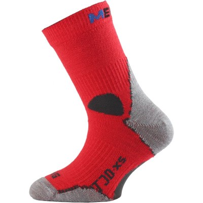 Lasting dětské merino ponožky TJD 306 červená