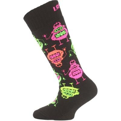 Lasting dětské merino lyžařské ponožky SJE 946 černé