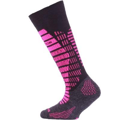 Lasting dětské merino lyžařské ponožky SJR 904 černé