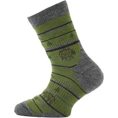 Lasting dětské merino ponožky TJL 688 zelená