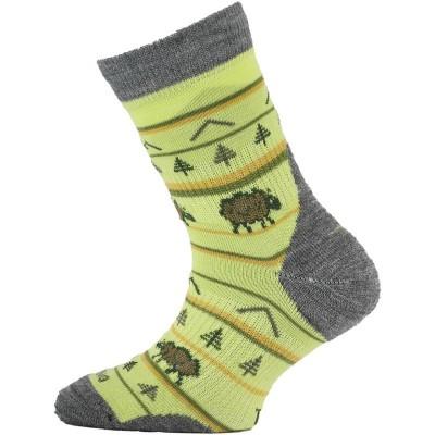 Lasting dětské merino ponožky TJL 608 zelená